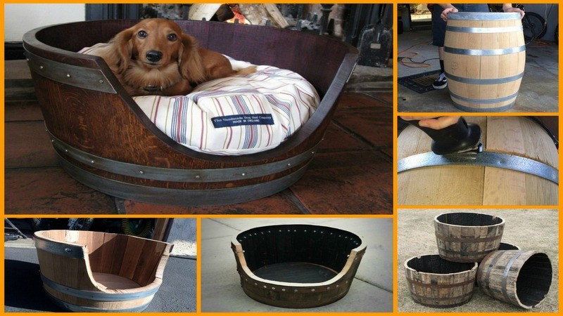 Here S An Awesome Diy Project Wine Barrel Dog Bed Pawbuzz