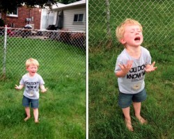 Kid's Reaction To Accidentally Stepping In Dog Poop Is Quite Possibly The Best Reaction I've Ever Seen…