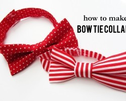 How To Make AWESOME Bow Tie Collars For Your Dog