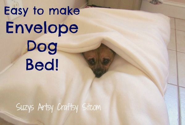 diy envelope style dog bed