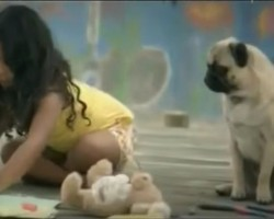 (VIDEO) Vodafone Commercial Featuring a Pug as a Little Girl's Guardian Angel is SO Touching!