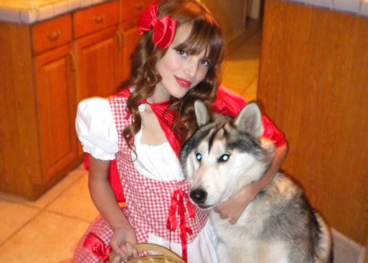 Bella Thorne and Husky