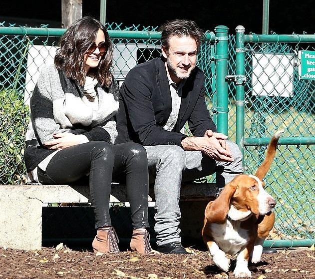 David Arquette, girlfriend, basset hound