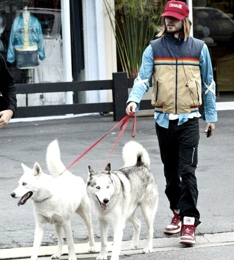 Jared Leto and Huskies