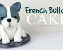 [RECIPE] How To Make A Simple, Cute 3D French Bulldog Cake!