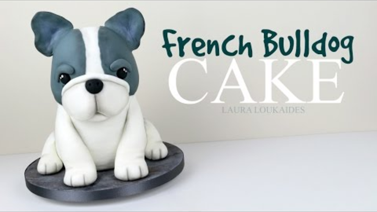 Recipe How To Make A Simple Cute 3d French Bulldog Cake