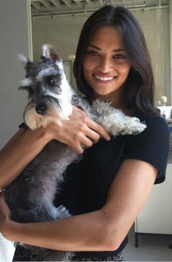 Shanina Shaik dog