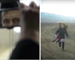 Dad Abandons Girl On Dirt Road, Then Looks In The Rearview Mirror And Sees Her Transform