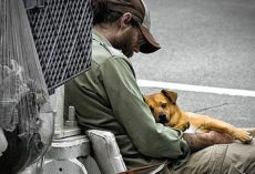 Man's Act Of Kindness Puts Spark Of Life Back In Eyes Of Homeless Man And His Dog