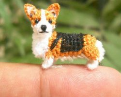 These Miniature Crochet Animals Are So Tiny They Will Sit On Your Finger Tip