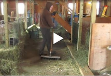Jay Lavery stands alone and sweeps barn – now watch when his favorite song comes on