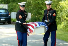Veteran military dog passes away. Then 2 marines grab his casket and give him a proper burial