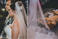 Bride And Groom Say Vows But A Lonely Stray Dog Suddenly Lies On Her Gown And Refuses To Leave