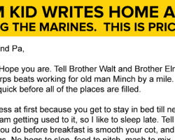 Farm Kid Writes Home After Joining The Marines. This Is PRICELESS!