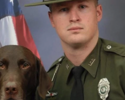 Police K-9 And Partner Take Photos, But Pup Simply Cannot Contain His Love For Owner