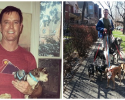 After Man Loses Life Long Best Friend, He Goes To Shelter, And Doesn't Leave Alone