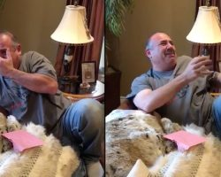 Dad Bursts Into Tears When Daughters Surprise Him With New Puppy