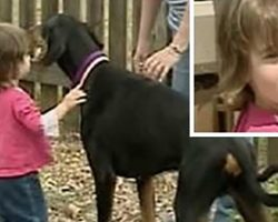 Mom's speechless when dog throws toddler across yard, then realizes dog saved daughter's life