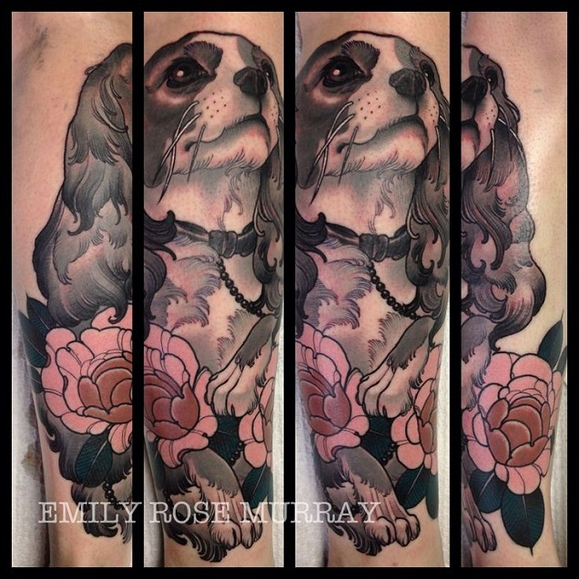 The 6 Coolest Cavalier King Charles Spaniel Tattoo Designs In The