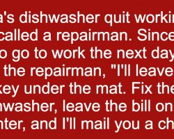 She Gave The Repairman Some Advice But When He Didn't Follow Them. Oh Dear