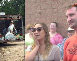 Couple Adopts Dog Sight Unseen. When Trailer Door Opens They Freak Out When They Meet Him