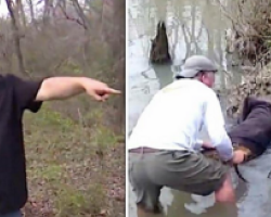 Man thinks he's about to save a giant beaver stuck in the river – moves closer and realizes the unimaginable
