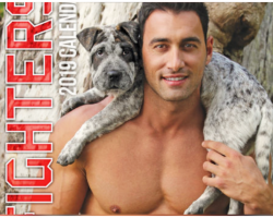 Firefighters Pose Shirtless With Puppies For 2019 Calendar And It's Smokin' Hot