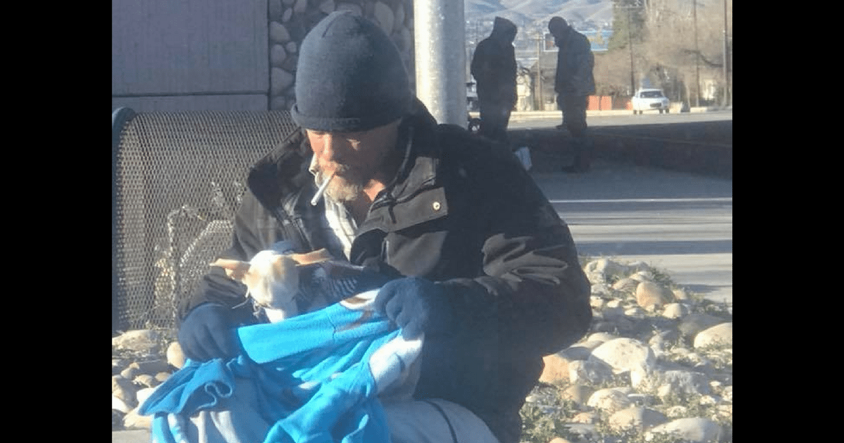 Homeless Man Finds Tiny Dog Dumped On Side Of Highway ...