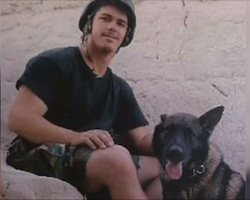 Marine son is killed in action, so Mom brings home his canine partner