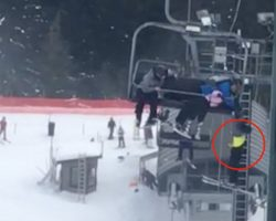 Kids Come To The Rescue Of 8-Year-Old Dangling From Chairlift