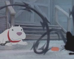 Pixar's New Short About A Stray Kitten And A Pit Bull Tugs On The Heartstrings