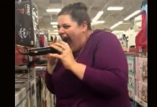 Woman Tries Sam's Club Karaoke And The Footage Goes Viral