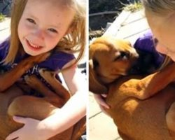 Woman Videotaped Daughter While She Sings Her New Rescue Puppy To Sleep