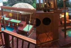 Dog Dad Spends Two Years Building Incredible Doggy Palace