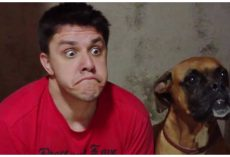 "Dog Threw ""Hilarious Fit"" When His Dad Started Imitating His Every Move"
