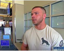 """Soldier Waited Anxiously At Airport, Turned To See His """"Battle Buddy"""" Running Towards Him"""