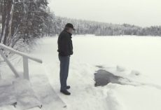 "Lucky Elderly Man Is Greeted Every Day By ""A Friend"" Who Crawls Out Of The Ice"