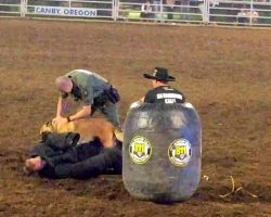 "Dutiful K9 Charges Out Of Nowhere When He Sees Rodeo Wrangler ""Teasing"" Cop"