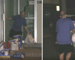 Man Goes Undercover At Night Because Angry Locals Yell At Him For Feeding The Strays