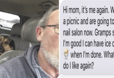 Gramps Keeps Daughter Updated With Texts While Babysitting Her Dog