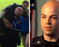 Runaway Dog's Paws Melt Away In The Heat, Cop Carries Her 200 Yards To Safety