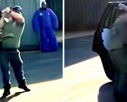 Cop Hangs K9 Dog Several Feet In Air, Slams Him Against The Car And Slaps Him
