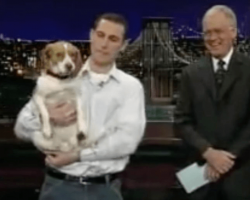 """Owner's """"Play Dead"""" Trick With Beagle Makes Audience Roar"""