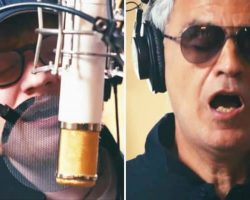 Ed Sheeran Starts Singing, But The Moment Andrea Bocelli Joins In, You'll Have Chills All Over